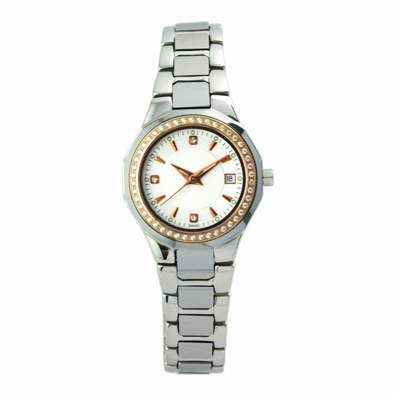 Stainless Steel & Tungsten Steel Couple Watch