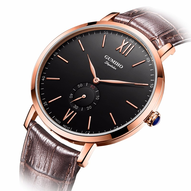 Super-thin Watches With Leather Calf Strap