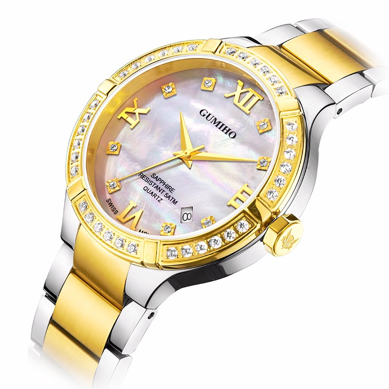 Fashion Latest Design For Lady Watch With Swarovski  Stones
