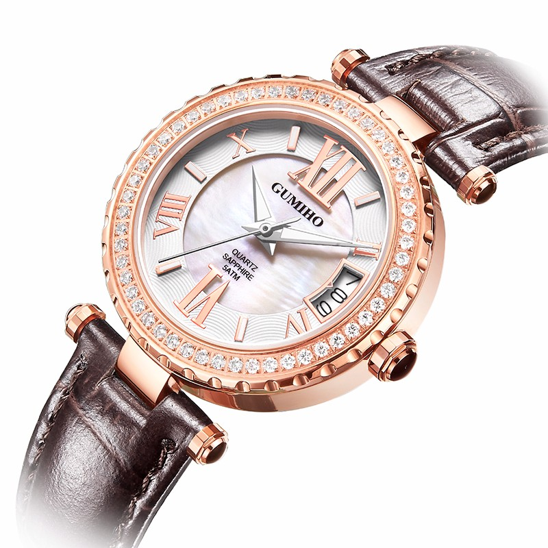 Calf Leather Lady Watch with Japan Movt