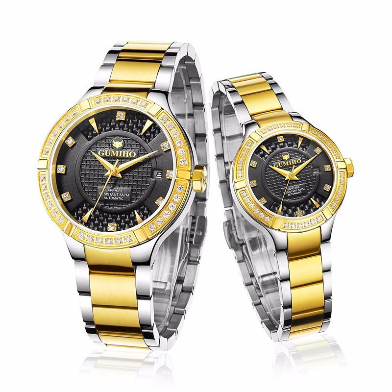 Mechanical Couple Watch With Swiss Ronda Movt