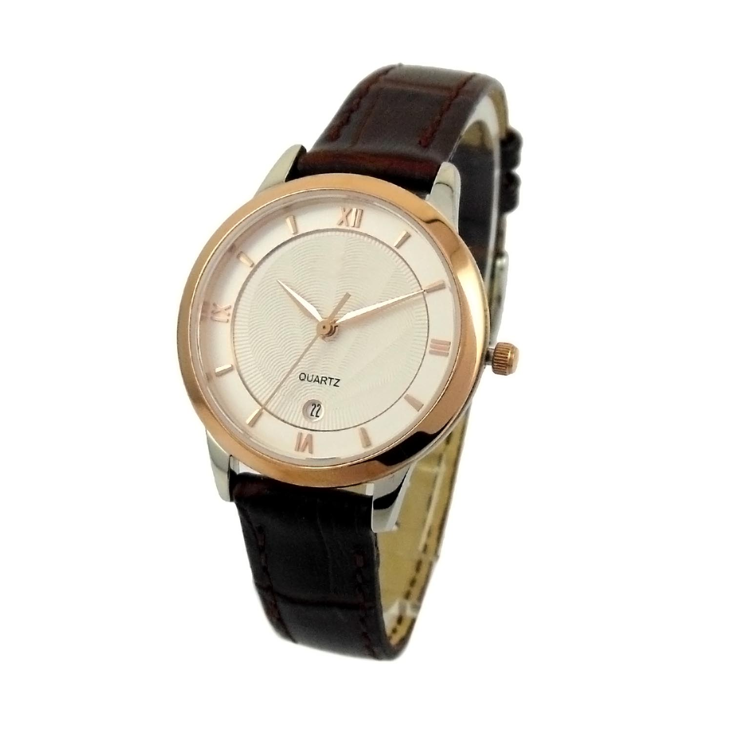 Rose Gold Color Stainless Steel Color Lady Watch