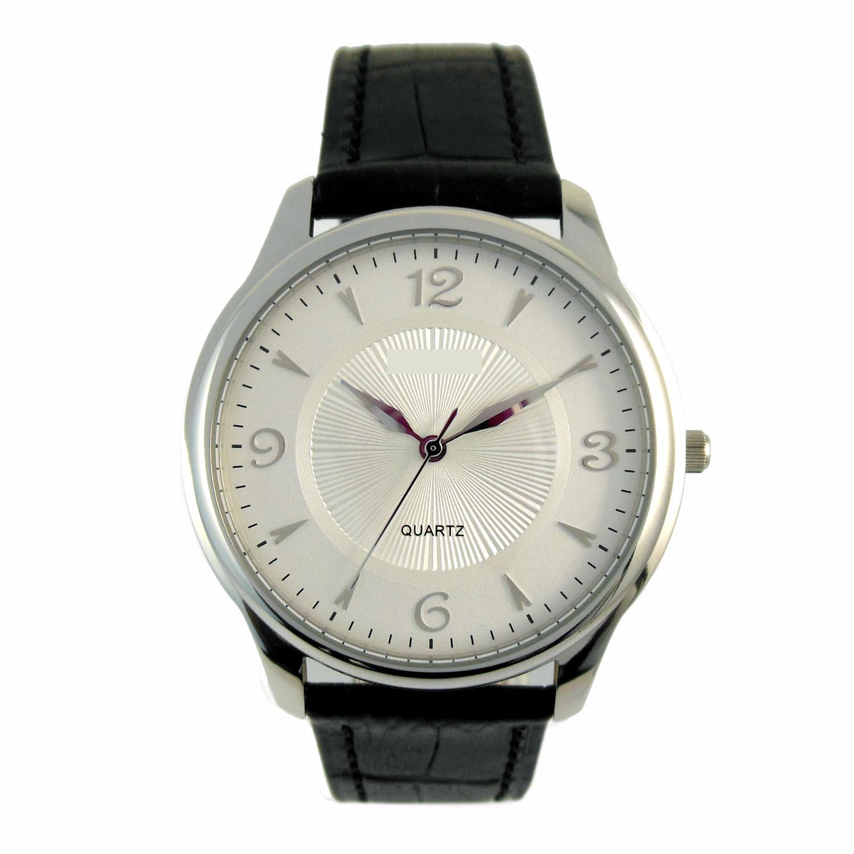 Steel Color Debossed Dail Lady Watch