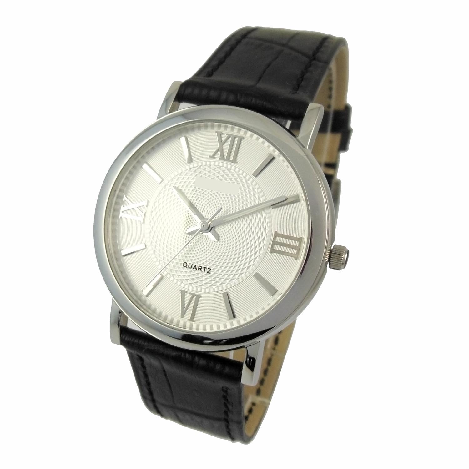 Leather Strap Stainless Steel Men Watch