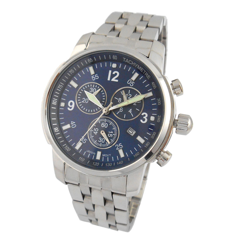 Japan Movt Stainless Steel Men Wristwatch