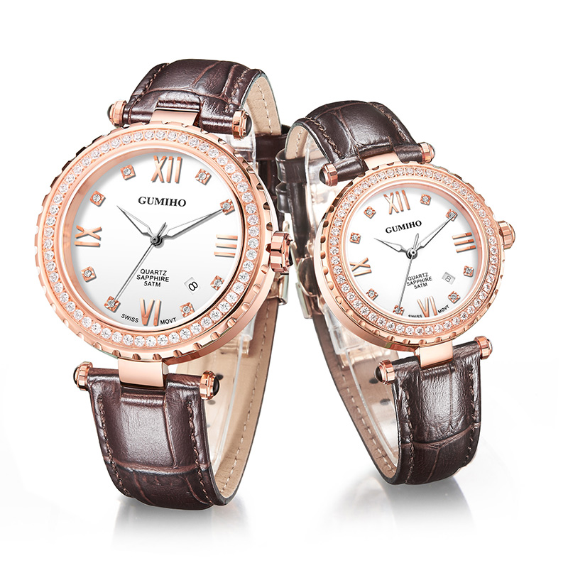 Leather Couple Watch