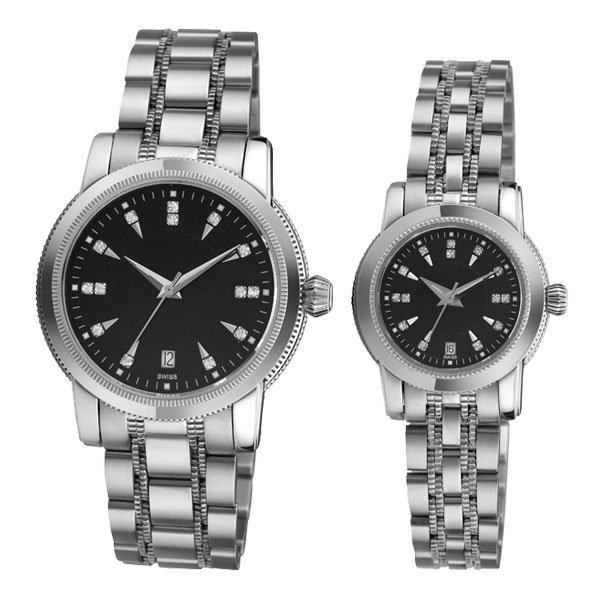 Stainless Steel Couple Watch