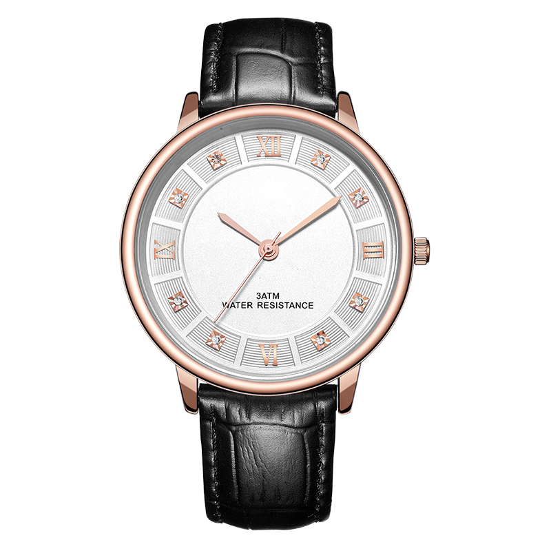 Alloy Promotional Watch with Crystal Debossed Dial