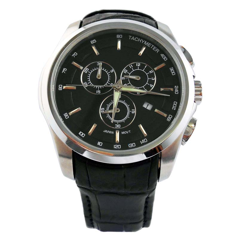 Sport Style Quartz Leather Band Watches For Men